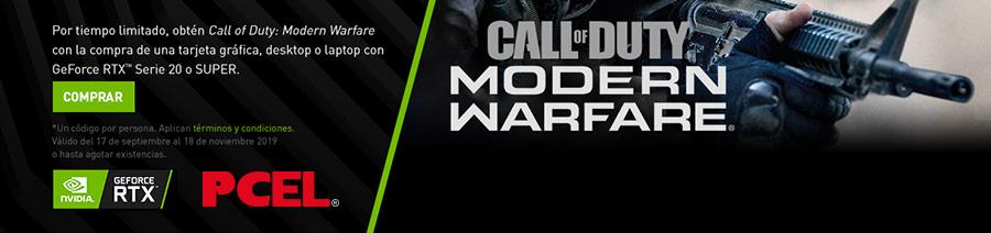 Por tiempo limitado, obtén Call of Duty: Modern Warfare con la compra de una tarjeta gráfica, desktop o laptop con GeForce RTX Serie 20 o SUPER.