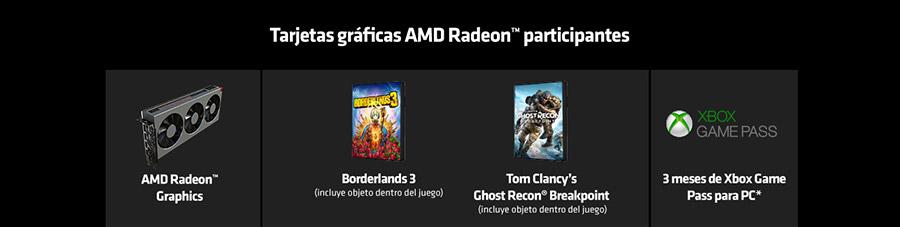 Tarjetas gráficas AMD Radeon™ participantes