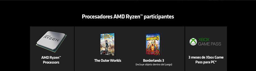 Procesadores AMD Ryzen™ participantes
