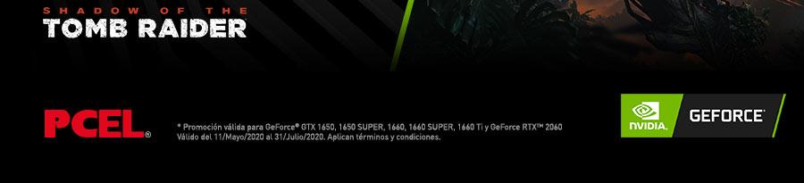 *Promoción válida para GeForce® GTX 1650, 1650 SUPER, 1660, 1660 SUPER, 1660 Ti y GeForce RTX™ 2060. Válido del 11 Mayo 2020 al 31 Julio 2020. Aplican términos y condiciones.
